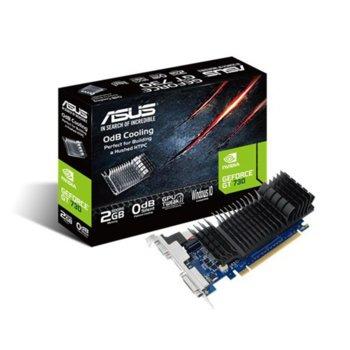 Видеокарта GeForce GT 730, 2GB, Asus GT730-SL-2GD5-BRK, PCI-E 2.0, GDDR5, 64 bit, HDMI, DVI, VGA image