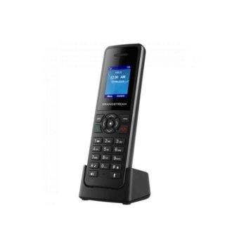 """Безжичен VoIP телефон Grandstream DP720, за база Grandstream DP750, 1.8"""" (4.57 cm) цветен LCD дисплей, до 10 линии, черен image"""