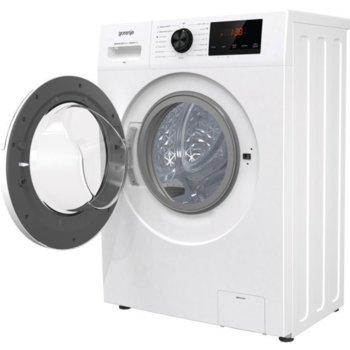 Перална машина Gorenje WHP82ES, клас E, 8 кг. капацитет, 1200 оборота, 15 програми, свободностояща, 59.5 cm, SteamTech третиране с пара, TotalWeight разпознаване на теглото на прането, бяла image