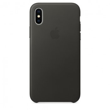 Apple iPhone X Leather Case - Charcoal Gray product