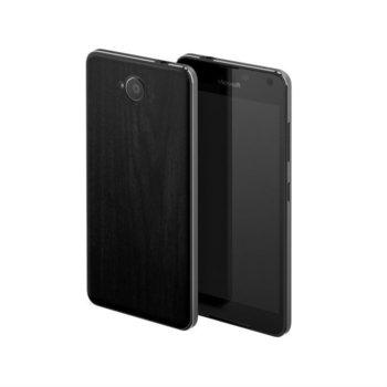 Заден панел за Microsoft Lumia 650, черно дърво image