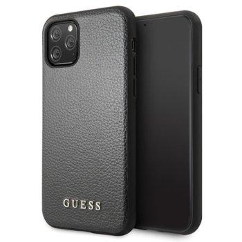 Калъф за Apple iPhone 11 Pro Max, хибриден, Guess Iridescent Leather Hard GUHCN65IGLBK, черен image