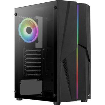 Кутия Aerocool Mecha MECHA-G-BK-V2, ATX/Micro-ATX/Mini-ITX, 2x USB 3.0, прозорец, черна, без захранване image