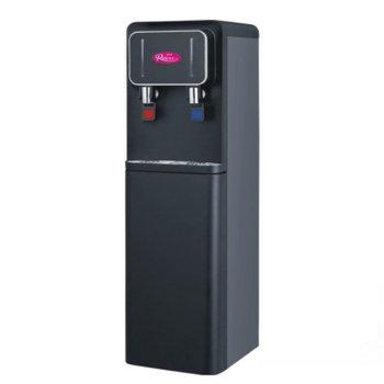 Диспенсър за вода Royal YLR2-5-X107L Matte, защита от прегряване, долно отделение за бутилка, 640W нагревател, черен мат image