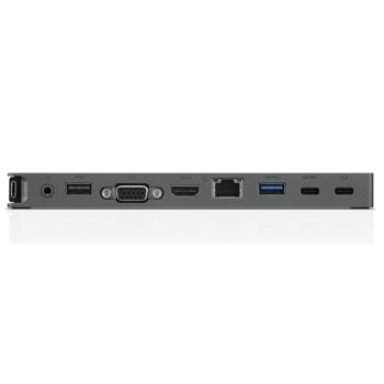 Докинг станция Lenovo USB-C Mini Dock, 1x USB Type C (м) към HDMI (ж), VGA (ж), RJ45 (ж), 2x USB 3.0 (ж), 1x USB 2.0  image