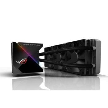 Водно охлаждане за процесор Asus ROG RYUJIN 360, съвместимост с LGA 1150/1151/1152/1155/1156/1366/2011/2011-3/2066, AMD AM4/TR4, Aura Sync RGB OLED подсветка image