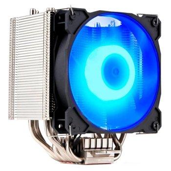 Охлаждане за процесор Gelid Solutions SIROCCO, съвместимост със Intel LGA 1151/1150/1155/1156/775/2011/2066 & AMD AM4/FM2+/FM2/FM1/AM3+/AM3/AM2+/AM2, RGB Led подсветка image