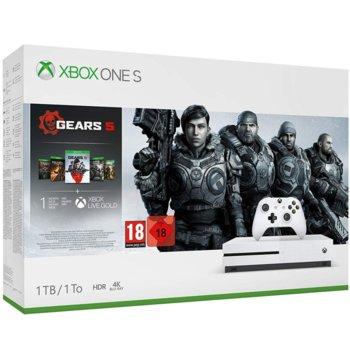 Конзола Xbox One S Gears + игра Gears 5, 1TB, бяла image
