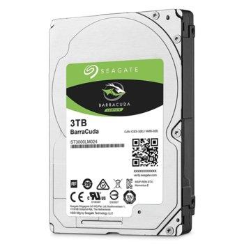"""Твърд диск 3TB Seagate BarraCuda, SATA 6Gb/s, 5400 rpm, 128MB кеш, 2.5""""(6.35 cm) image"""