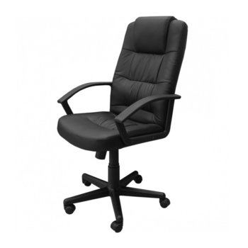 Директорски стол Star ЕКО, еко кожа, подлакътници, регулиране на височина, Tilt механизъм, черен image