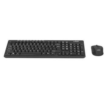 Комплект клавиатура и мишка uGo ETNA CW110, безжични, 800-1600 DPI, USB, черни image