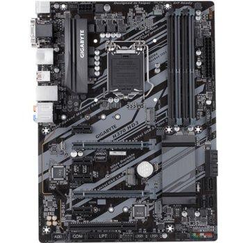 Дънна платка GIGABYTE H370 HD3, H370, Socket 1151, 4 x DDR4, PCI (HDMI, DVI, D-SUB)(CF), 6 x SATA 6Gb/s, 7 x USB 3.1/6 x USB 2.0/1 x USB type C, Realtek ALC887 codec, ATX image