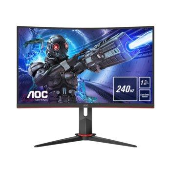 """Монитор AOC C32G2ZE, 31.5"""" (80.01 cm) VA панел, 240Hz, Full HD, 1ms, 80M:1, DisplayPort, HDMI image"""