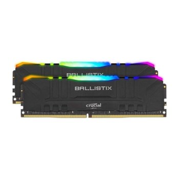Памет 16GB (2x 8GB) DDR4 3200Mhz, Crucial Ballistix RGB BL2K8G32C16U4BL, 1.35V, RGB подсветка image