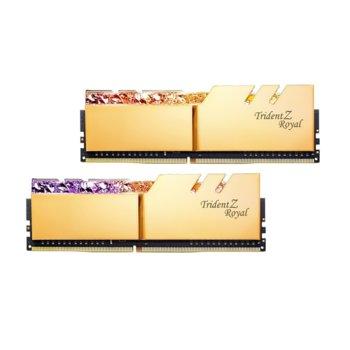 Памет 32GB (2x16GB) DDR4 4000MHz, G.SKILL Trident Z Royal, F4-4000C19D-32GTRG, 1.35V, RGB image