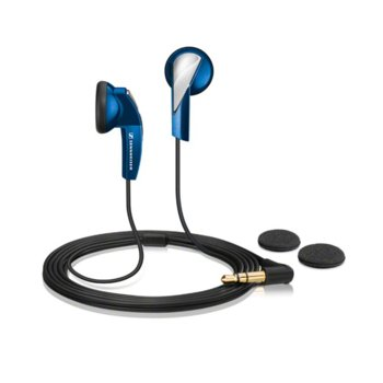 """Слушалки Sennheiser MX 365, тип """"тапи"""", динамичен бас, ъглов 3.5мм жак, 1.2м кабел, сини image"""