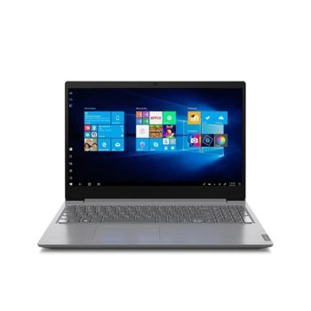 "Лаптоп Lenovo V15 (82C500GKBM)(сив), двуядрен Ice Lake Intel Core i3-1005G1 1.2/3.4 GHz, 15.6"" (39.62 cm) Full HD Anti-Glare Display, (HDMI), 8GB DDR4, 256GB SSD, 2x USB 3.0, Free DOS image"