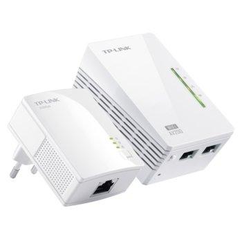 TP-Link TL-WPA2220KIT 300Mbps AV200 WiFi Powerline Extender Starter Kit, комплект 2 устройства image