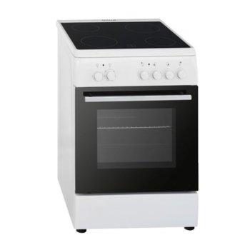 Готварска печка Arielli C-5060CER, клас А, 44 л. обем на фурната, 4 нагревателни зони, бяла image