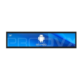 "All in One компютър ProDVX APPC-28UW, четириядрен Cortex A17 1.6 GHz, 28"" (71.12 cm) Full HD (1920x360) LED Display & MALI T764, 2GB DDR3, 16GB Flash ROM, USB 2.0, Android 6.0 image"