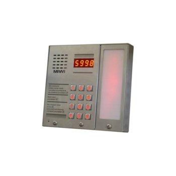 Домофонно табло, MIWI-URMET MATIBUS 1052/101D-BG, вандалоустойчиво, захранване с модул 1052/31R image