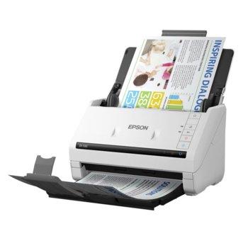 Скенер Epson WorkForce DS-530, 300 dpi, A4, двустранно сканиране, ADF, LAN, USB 3.0, бял image