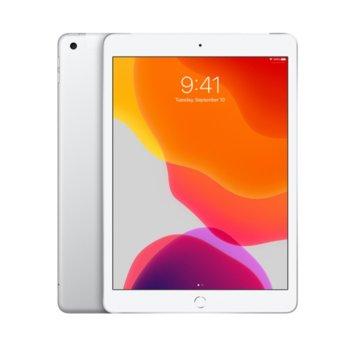 "Таблет Apple iPad 7 10.2"" (MW782HC/A)(Silver), Wi-Fi, 10.2"" (25.90 cm) IPS Retina дисплей, четириядрен A10 Fusion 2.34GHz, 2GB RAM, 128GB Flash памет, 8.0 & 1.2 Mpix, iPadOS, 483g image"