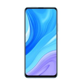 """Смартфон Huawei P Smart Pro STK-L21 (син), поддържа 2 sim карти, 6.59"""" (16.74 cm) FHD+ дисплей, осемядрен Kirin 710F2,2 GHz, 6GB RAM, 128GB Flash памет (+microSD слот), 48+8+2 & 16MPix камера, Android 9.0 image"""