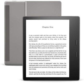 """Електронна книга Amazon Kindle Oasis 10th Generation grey, 7""""(17.78cm), 8GB Flash памет, Wi-Fi, водоустойчив IPX8, сребрист image"""