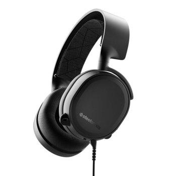 Слушалки SteelSeries ARCTIS 3 2019 Edition, гейминг, микрофон, контрол на звука, черни image