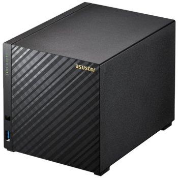 Мрежови диск (NAS) ASUSTOR AS3104T, дву-ядрен Broadwell Intel Celeron N3050 1.6/2.16 GHz, без твърд диск (4x SATA), 2GB RAM, 3x USB 3.0, HDMI image