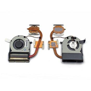 Вентилатор + Heatsink за лаптоп, съвместим с Toshiba Satellite C70-C C75-C image