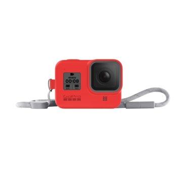 Калъф GoPro Sleeve + Lanyard Firecracker Red за HERO8 Black, с връзка, червен image
