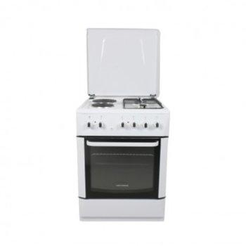 Готварска печка Hoffmann K6022R2FPW, 4 нагревателни зони, 45 л. обем на фурната, 2 котлона на газ, бял image