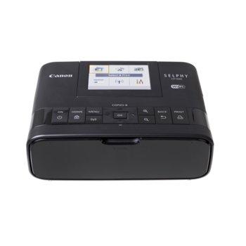 """Мобилен принтер Canon SELPHY CP1300(черен), цветен термосублимационен фотопринтер, 300x300 dpi, 3.2"""" (8.12cm) цветен TFT дисплей, Wi-Fi, SDXC слот, miniUSB Type B, пощенска картичка 148x100mm image"""