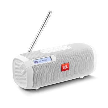 Тонколона JBL Tuner, 2.0, 5W, Bluetooth 4.1, до 8 часа време за работа, LCD дисплей, вградена антена, бяла image