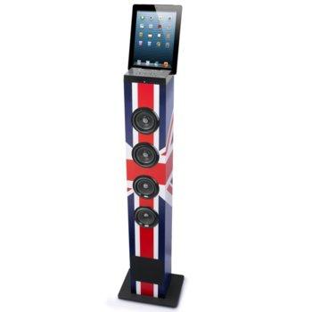 Тонколона Tower Muse M-1200 BTK, 4.0, Bluetooth, USB, AUX, FM Radio, слот за SD карти, с дистанционно, с гнездо за таблет или смартфон image