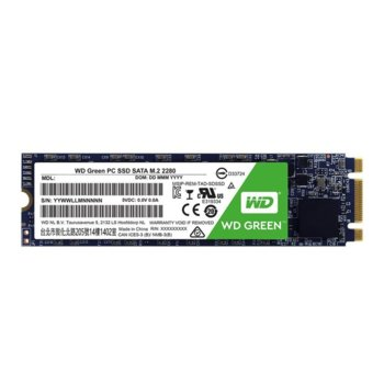 Памет SSD 240GB Western Digital Green, SATA 6Gb/s, M.2 2280, скорост на четене 545 MB/s, скорост на запис 545 MB/s  image
