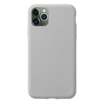 Калъф за Apple iPhone 11 Pro, силикон, Cellular Line Sensation, сив image
