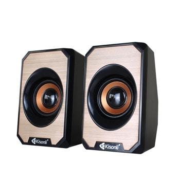 Мини Аудио Система Kisonli KS-04, 2.0, 2x3W, USB захранване, 3.5mm стерео image
