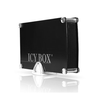 """Кутия 3.5""""(8.9 cm), RaidSonic IB-351StU3-B, за 3.5"""" HDD, SATA, USB 3.0, алуминиева, черна image"""
