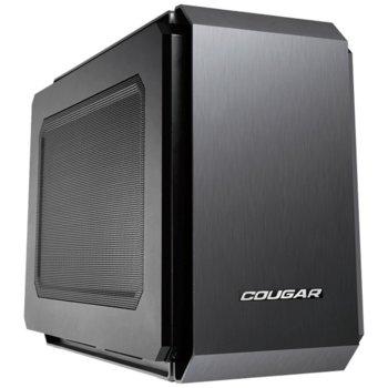 Кутия Cougar Gaming QBX, Mini-ITX, 2x USB 3.0, компактна, черна, без захранване image