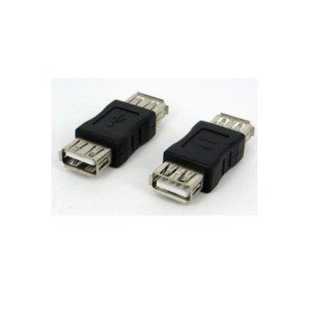 Преходник, от USB A(ж) към USB A(ж), черен image