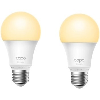 Смарт крушки TP-Link Tapo L510E (2-pack), 8.7 W, 806 lm, Wi-Fi, Android/iOS, бял, 2 броя image