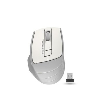 Мишка A4tech FG30 Fstyler, оптична (2000 dpi), безжична, 6 бутона, USB, бяла image