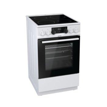 Готварска печка Gorenje EC5341WG, клас А, 70 л. обем на фурната, 4 HiLight нагревателни зони, AquaClean почистване, бял image