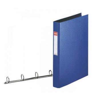 Папка Esselte, за документи с формат до A4, с четири ринга, широчина 3см., синя image