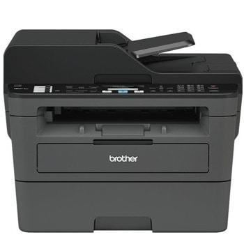 Мултифункционално лазерно устройство Brother MFC-L2712DN, монохромен принтер/копир/скенер/факс, 2400x600 dpi, 30 стр./мин, LAN 100Base-TX, USB, ADF, двустранен печат, A4 image