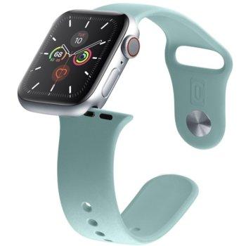 Каишка за смарт гривна Cellularline Urban 42/44mm, за Apple Watch, силиконова, зелена image