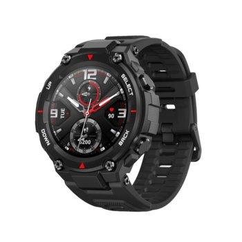 """Смарт часовник Xiaomi Amazfit T-Rex Black , 1.3"""" (3.30 cm) AMOLED дисплей, до 20 дни живот на батерията, 14 режима на упражнения, Bluetooth, черен image"""